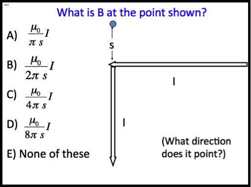 CU Electrodynamics Clicker Questions